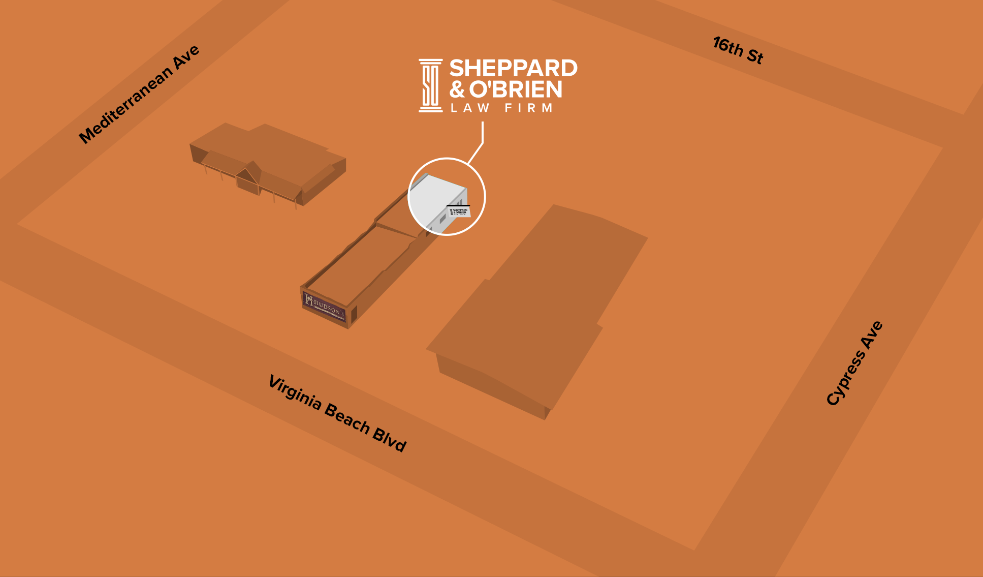 map of Sheppard & O'Brien location